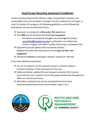 Food Scrap Recycling Equipment Guidelines 2018 Tompkins County