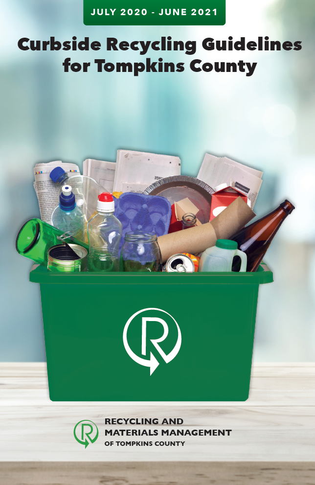 The cover of the 2020 curbside recycling guidelines brochure